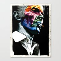 bowie Canvas Prints featuring Bowie by Cartyisme
