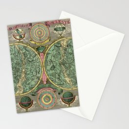 Vintage Astronomy Chart 1772 Stationery Cards