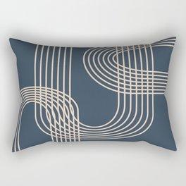 Lines in Midnight Rectangular Pillow