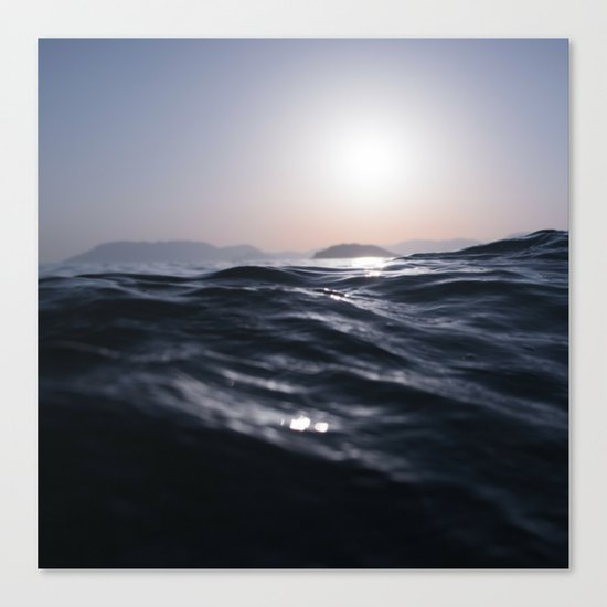 Water and Sun in the Distance (Lake / Ocean) Canvas Print