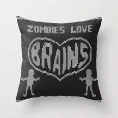 Zombie knitwear Throw Pillow