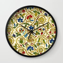 Embroidered Elizabethan / Jacobean Jacket Wall Clock