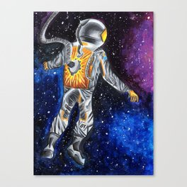 Astronaut in the universe Canvas Print