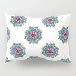 Colourful Botanical Mandala Pillow Sham