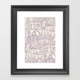 Ancient Greece purple pearl Framed Art Print