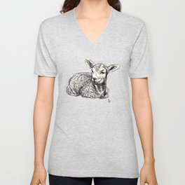 Baby Animals - Lamb Unisex V-Neck