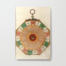 Peter Apian - Astronomicum Caesareum 1540 - Plate 30 Diagram Calculating the Julian Calendar Metal Print