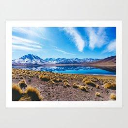 Laguna Miñiques, San Pedro de Atacama Desert, Chile Art Print