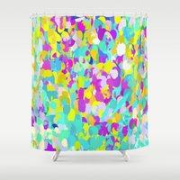 confetti Shower Curtains featuring Confetti  by Maggie Dylan