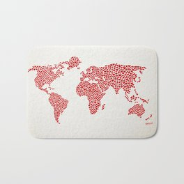 Love, You Are My World Bath Mat