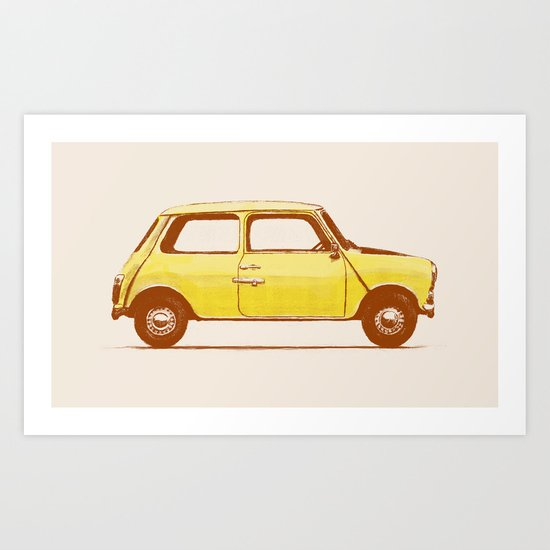 Famous Car #1 - Mini Cooper Art Print