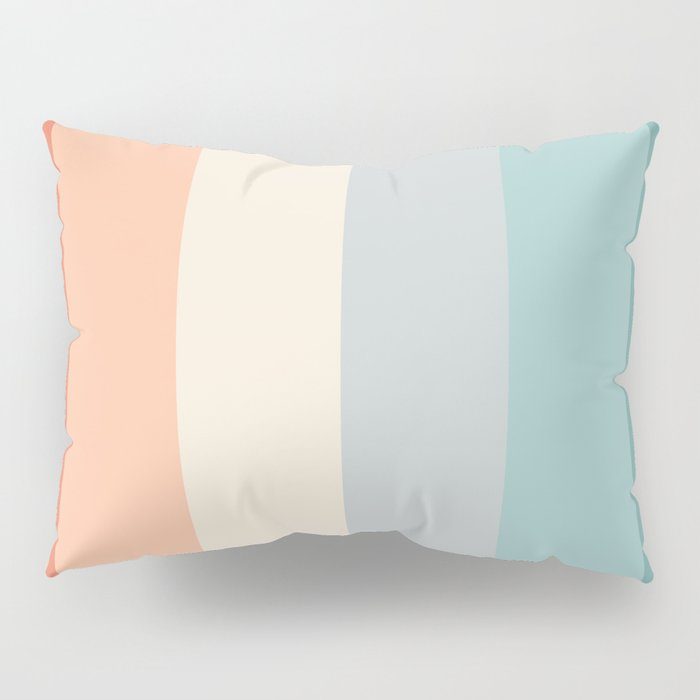 striped color pattern - red , orange, grey, green, Pillow Sham