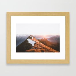 Mountain Hiker Travel Photo Framed Art Print