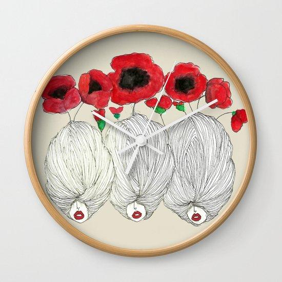 Poppy Girls Wall Clock
