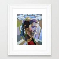 princess leia Framed Art Prints featuring Leia by iankingart