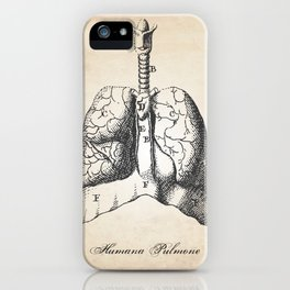 Human Anatomy Drawing Lungs iPhone Case