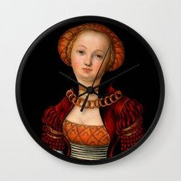 "Lucas Cranach the Elder ""Portrait of a Woman"" 2. Wall Clock"