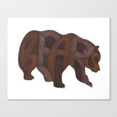 Bears Typography Canvas Print