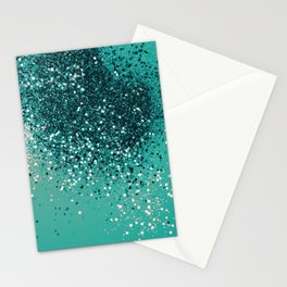 Cali Vibe Beach Glitter #1 #shiny #decor #art #society6 Stationery Cards