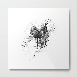 Saddle in Splatter Metal Print