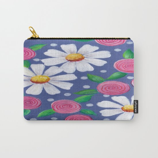 Daisey Pattern Carry-All Pouch