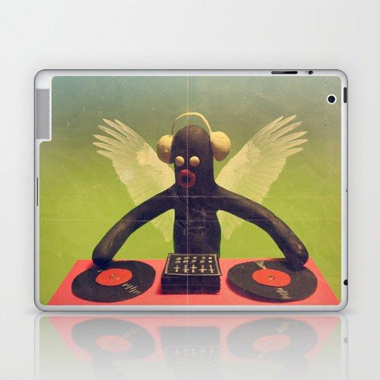 """last night a DJ saved my life"" Laptop & iPad Skin"