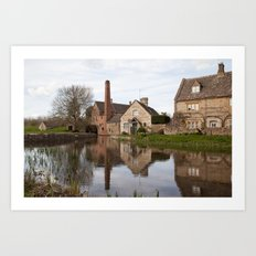 The old mill house Art Print