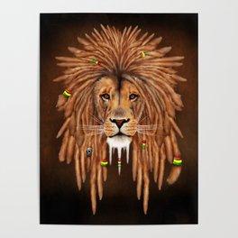 Dreadlock Lion Poster