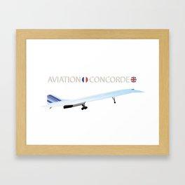 Concorde Turbojet-powered Supersonic Airliner Framed Art Print