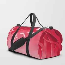 Dark Forest at Dawn in Ruby Duffle Bag