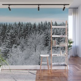 Winter Wanderlust Woods - Snow Capped Forest Nature Photography Wall Mural