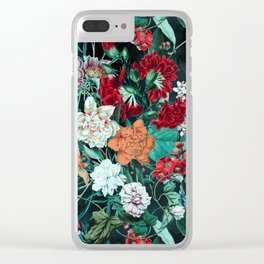 Midnight Garden Clear iPhone Case
