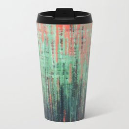 Coral Mint Navy Abstract Travel Mug