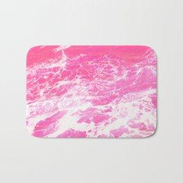 Pink Ocean Waves Bath Mat
