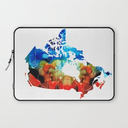 Canada - Canadian Map By Sharon Cummings Laptop Sleeve