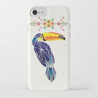 toucan iPhone & iPod Cases featuring toucan by Manoou