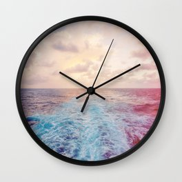 Sea Tracks Wall Clock