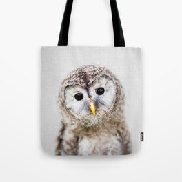 Baby Owl - Colorful Tote Bag