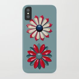 Jackie (Red & Blue) iPhone Case