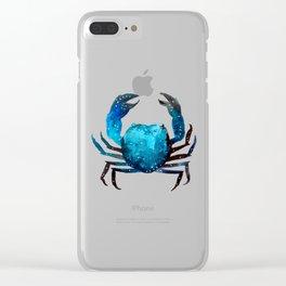 Cerulean blue Crustacean Clear iPhone Case