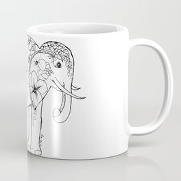 Elephant Full of Florals Coffee Mug