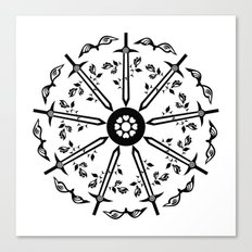 Swords 'n Roses Canvas Print