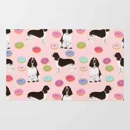 English Springer Spaniel donuts funny dog gifts perfect for spaniel owner pet portraits Rug