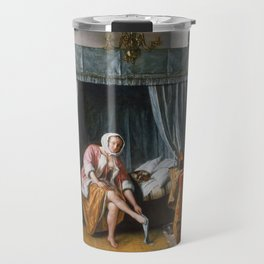 "Jan Steen ""Woman at her Toilet"" Travel Mug"