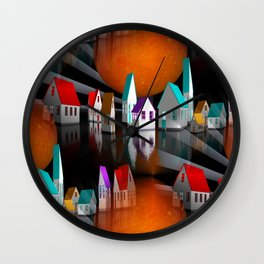 a seamless geometric horizon -3- Wall Clock