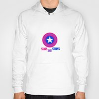 steve rogers Hoodies featuring Stars and Stripes- Bisexual Steve Rogers by merlinemrys