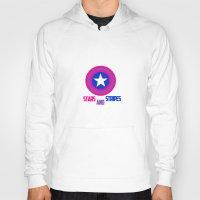 bisexual Hoodies featuring Stars and Stripes- Bisexual Steve Rogers by merlinemrys