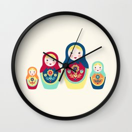 Matryoshka Dolls Wall Clock
