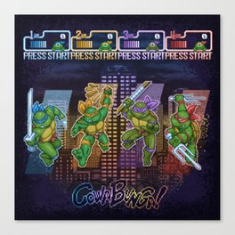 Mutant Ninja Turtle Teenagers Canvas Print