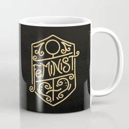 Feminist Art Nouveau Gold & Black Hand Drawn Illustration Coffee Mug